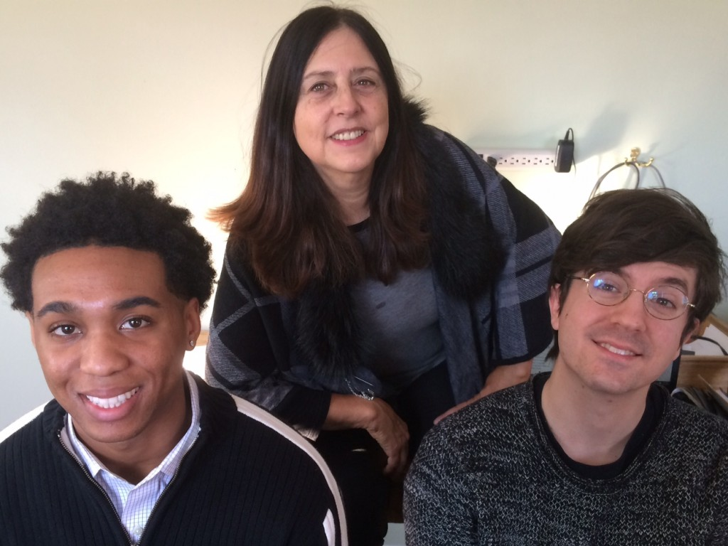 Warm greetings from the Pacifica Network staff! (from left: Elijah McCray, Ursula Ruedenberg, and Matt Swanson-Hurley)