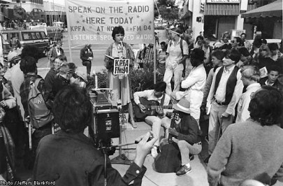 KPFA street broadcast