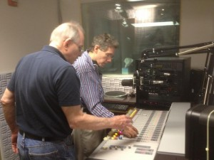 Pacifica technical experts Otis MacClay  & Jon Almeleh in the new WPFW studio