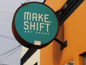 Make.Shift Art Space is the parent non-profit of KVWV. The all-ages music venue also serves as an art and studio gallery for local artists and musicians to rent out.