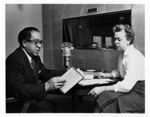 McKinney, right, with Langston Hughes, left.